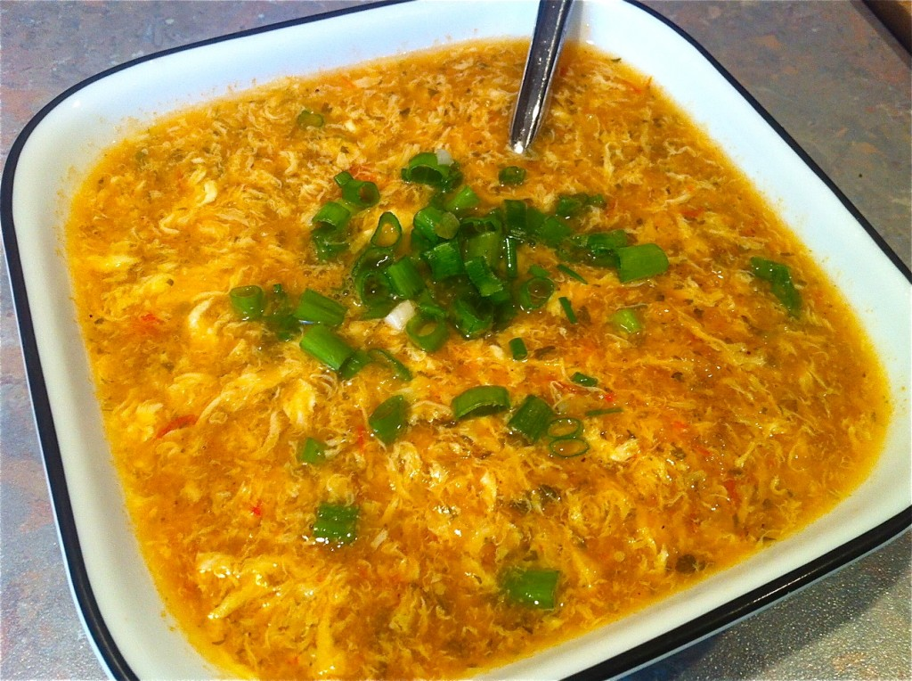 Spicy Thai Egg Drop Soup- 10 minute dinner