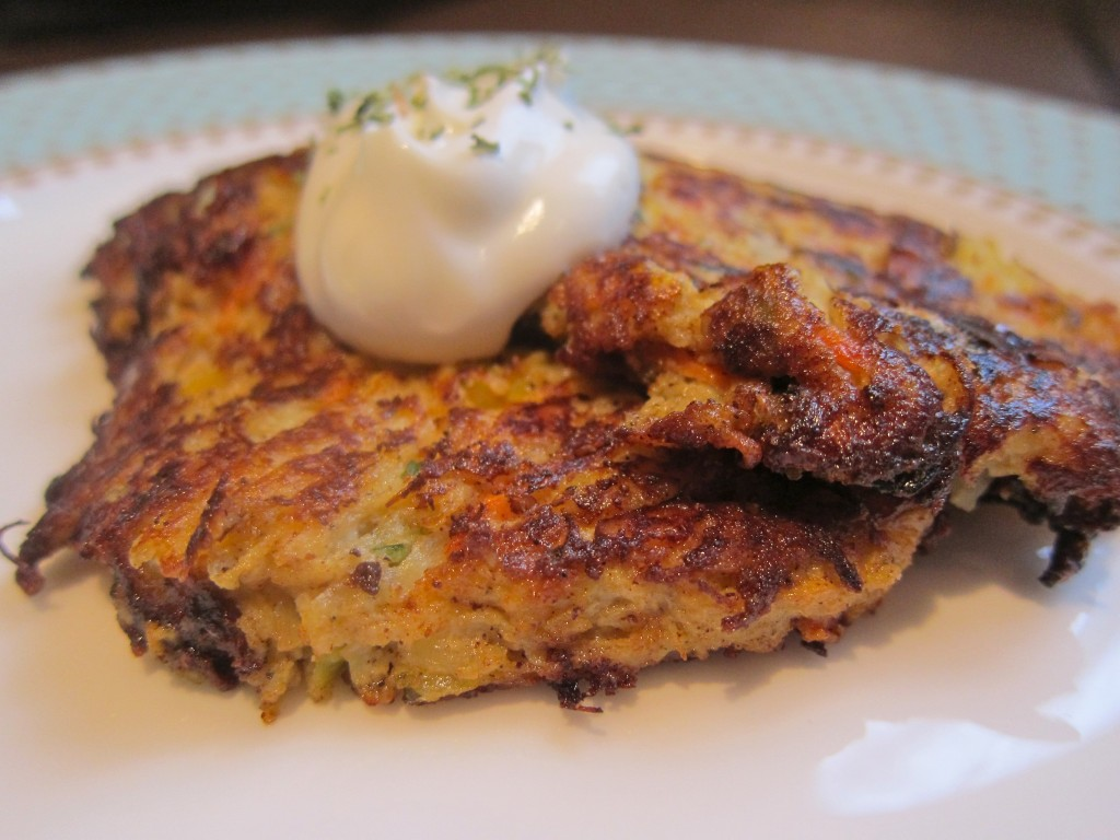 Pan Fried Squash Cakes