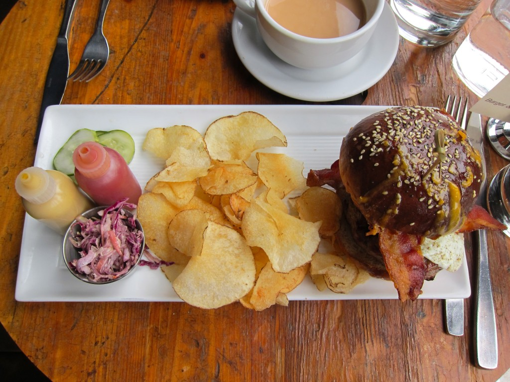 The Burger, at Mindy's Hot Chocolate