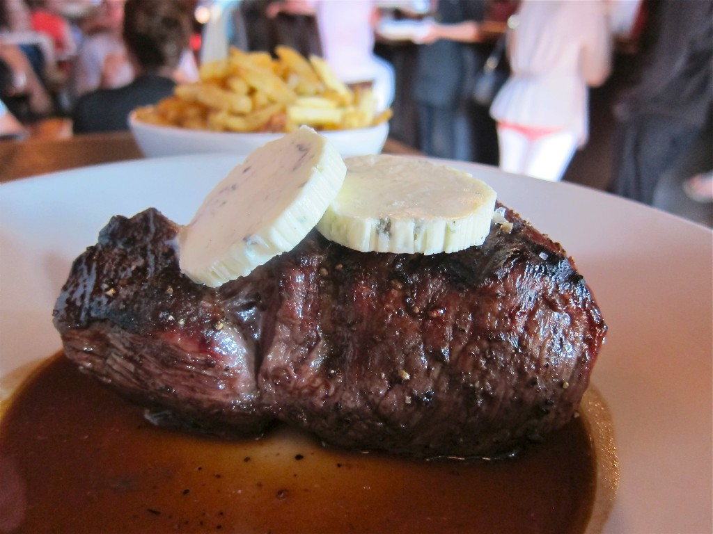 Steak and Roquefort Butter at Brasserie L'Ecole